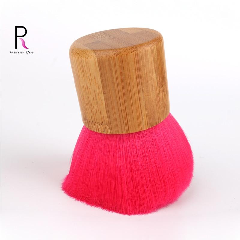 1pc Mâner din lemn Tampon de înaltă tampon Cosmetice Machiaj Fard - Machiaj