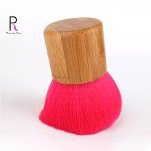 Princess Rose Professional Bamboo Handle Makeup Brushes Make Up Kabuki Brush Foundation Blush Powder Brush Red Pincel Pinceaux