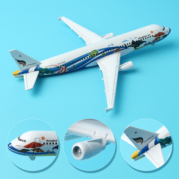 16cm Thai A320 Airbus Bangkok Fish Airlines Model Thailand Bangkok Fish Color Paint Airplane Aircraft Model Gift Travel Souvenir