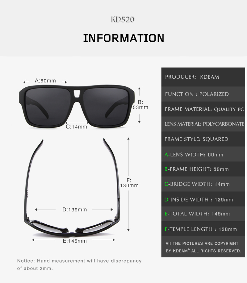 b336058195e Men Sports Eyewear Brand KDEAM Big Size Sun Glasses UV400 Protection With  Case Dropshipping KD520. HTB1 j7Sez3z9KJjy0Fmq6xiwXXa9. banner SIZE C203