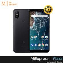Глобальная версия, Xiaomi Mi A2 4 Гб и 64 ГБ, Черное золото и синий, Google Play, кастильское установлен, задняя камера двойной 20 + 12 МП.