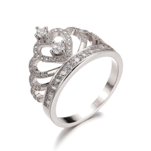 Women Fashion Shape Wedding Engagement Bridal Princess Crown Ring Jewelry