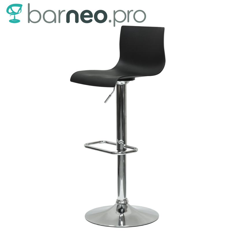 Swivel Counter Stool Bar Stool High Chair Black Kitchen: 94664 Barneo N 262 High Plastic Kitchen Breakfast Bar