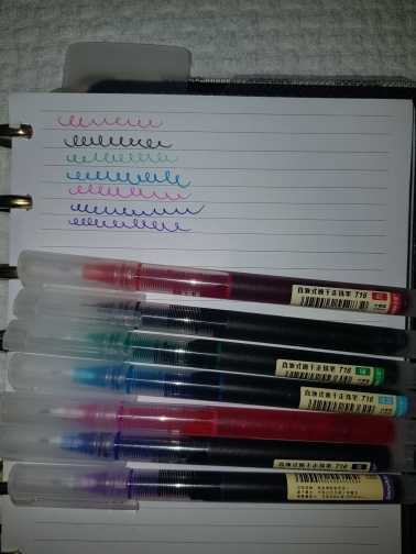 Colorful Liquid Gel Pen Set 7PCs photo review