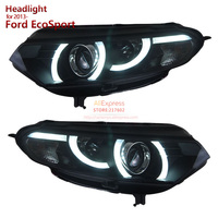 SOANR for Ford EcoSport Projector Headlights Assembly fit 2013 up cars with LED tube light bi xenon HID Car lamps