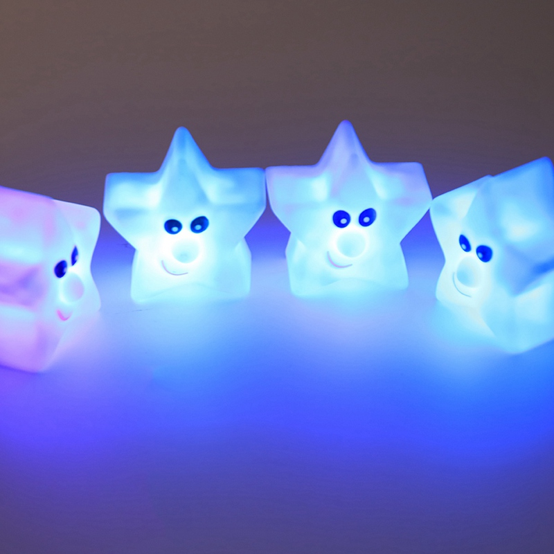 New 1 pcs Mini Night Light Novelty Star Bedroom lamp For Baby Gift Romantic Colorful Lights Glow Party Supplies