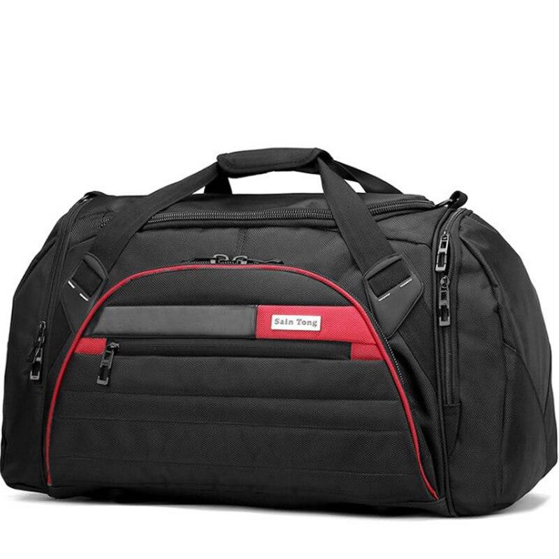 Sac de voyage 60L grand sac de voyage oxford imperméable à l'eau sac de voyage hommes et femmes sacs de voyage bagages à main hommes sacs à bandoulière 2018 mala
