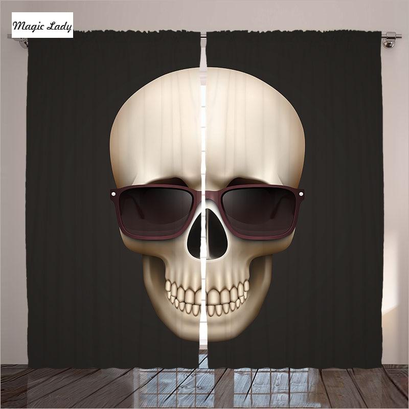 Gothic Skull In Sunglasses Living Room Bedroom Decor Art