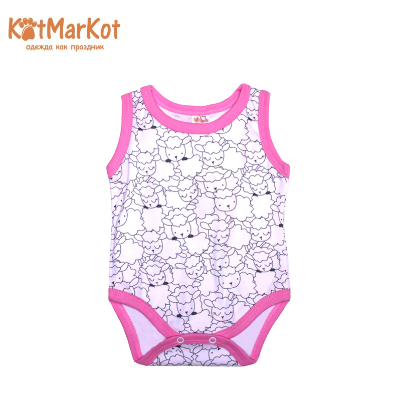Bodysuit Kotmarkot 9055 children clothing cotton for baby girls kid clothes available from 10 11 kotmarkot baby girls footiessheep white 6255