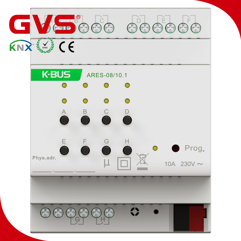 smart home gvs k bus knx eib knx switching actuator 8 fold. Black Bedroom Furniture Sets. Home Design Ideas