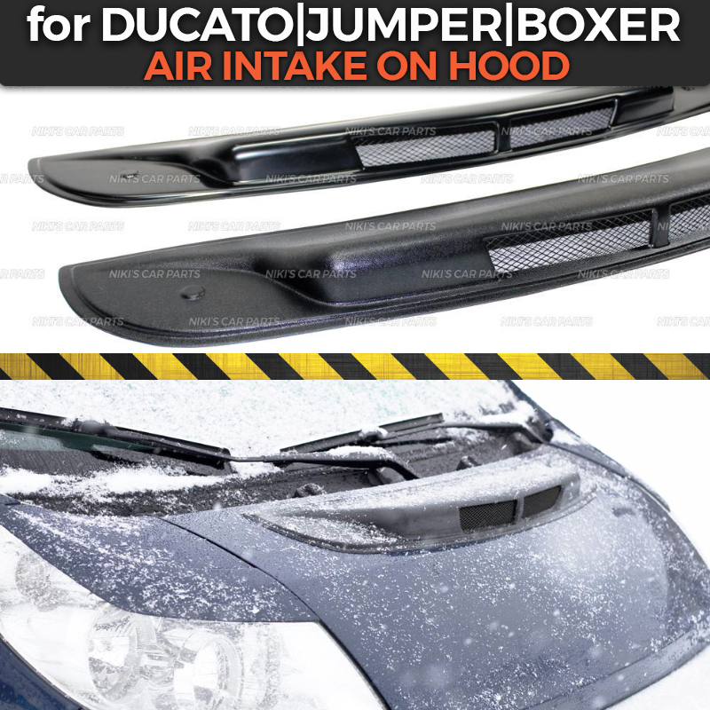 US $19 93 14% OFF|Air intake on hood case for Fiat Ducato 2006 2013 ABS  plastic exterior decorative air dynamic cover car styling tuning-in  Chromium