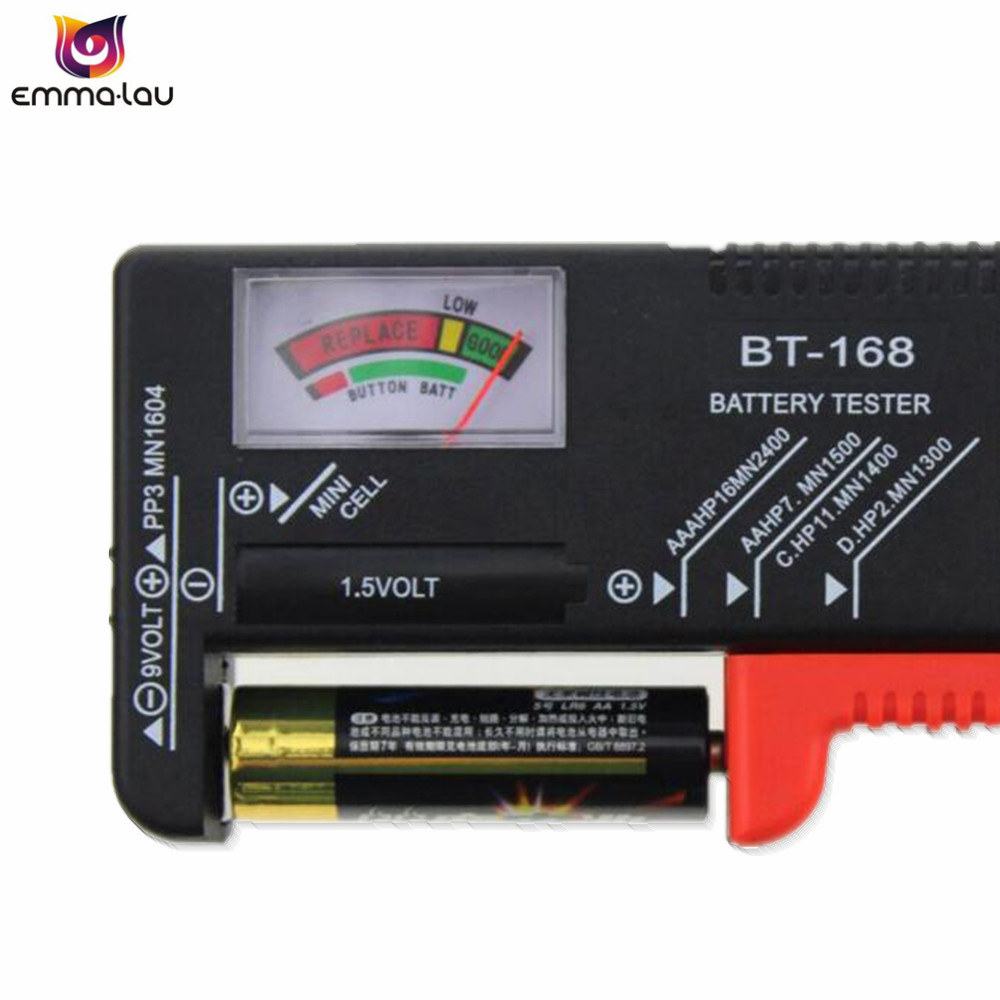 New Battery Tester Bt168 Capacity Aa Aaa 15v 9v Power Supply Check 5v To Schematic Meter Bt 168 C D Button Test Checker Voltage In Testers From