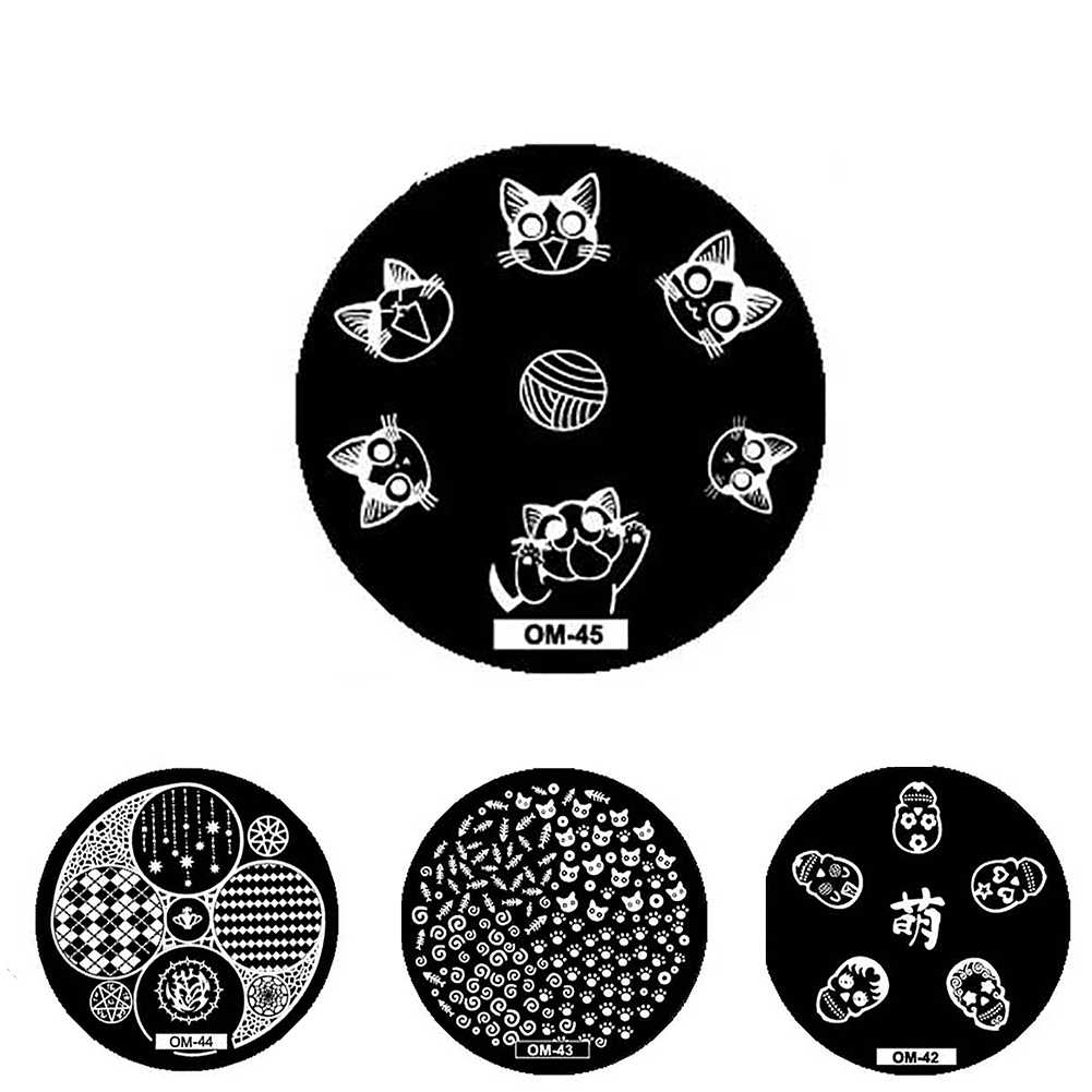 Nail Stamping Plate Animal Grid Pattern Templates Manicure Tool Gift Beauty