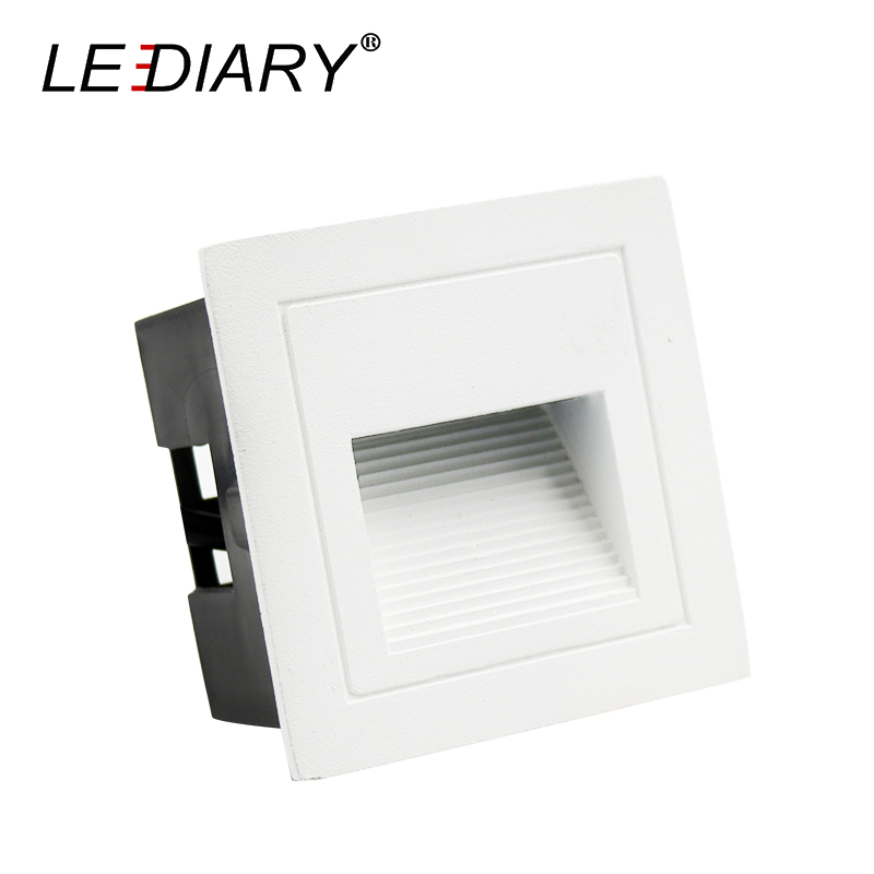 Lediary Waterproof Ip65 Led Porch Light White/black/gray Aluminum Square 110v-220v 3w Wall Corner Lamp Outdoor Lighting Fixtures Superior Performance Lights & Lighting Led Outdoor Wall Lamps