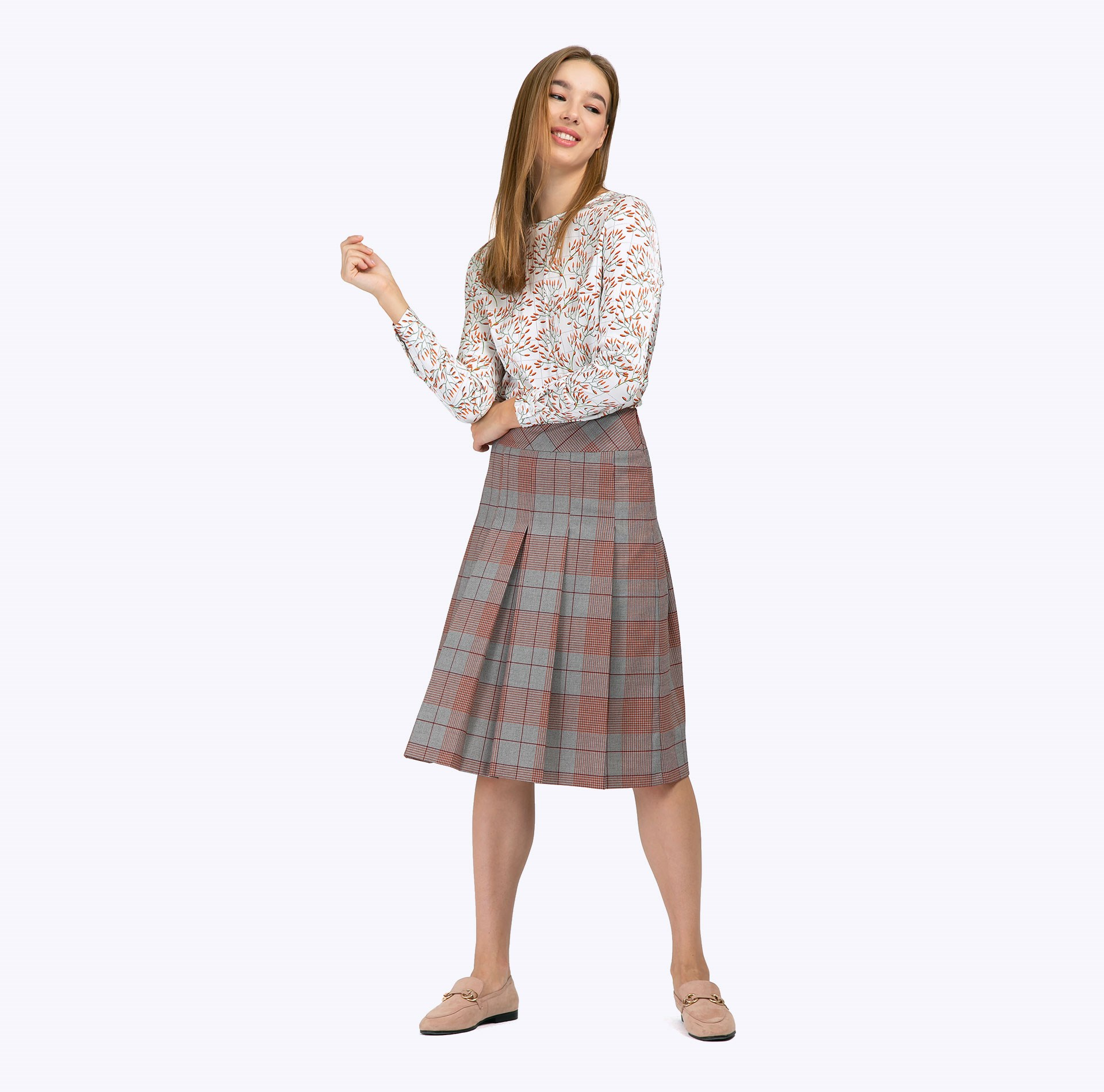Skirt A-line plaid plaid pencil skirt