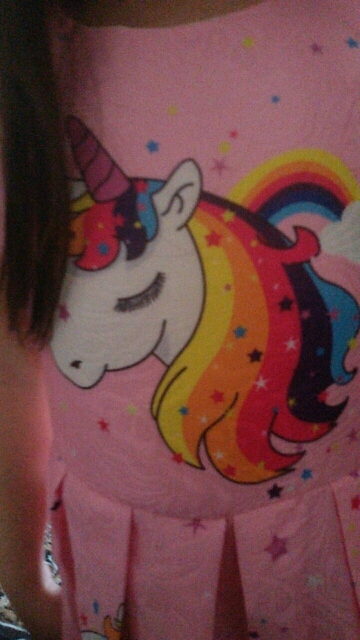 New Princess Unicorn Print Dress photo review