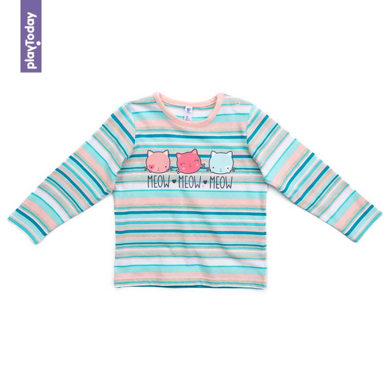 T-Shirts PLAYTODAY for girls 378066 Children clothes kids clothes kids outfits letter pattern t shirts in white