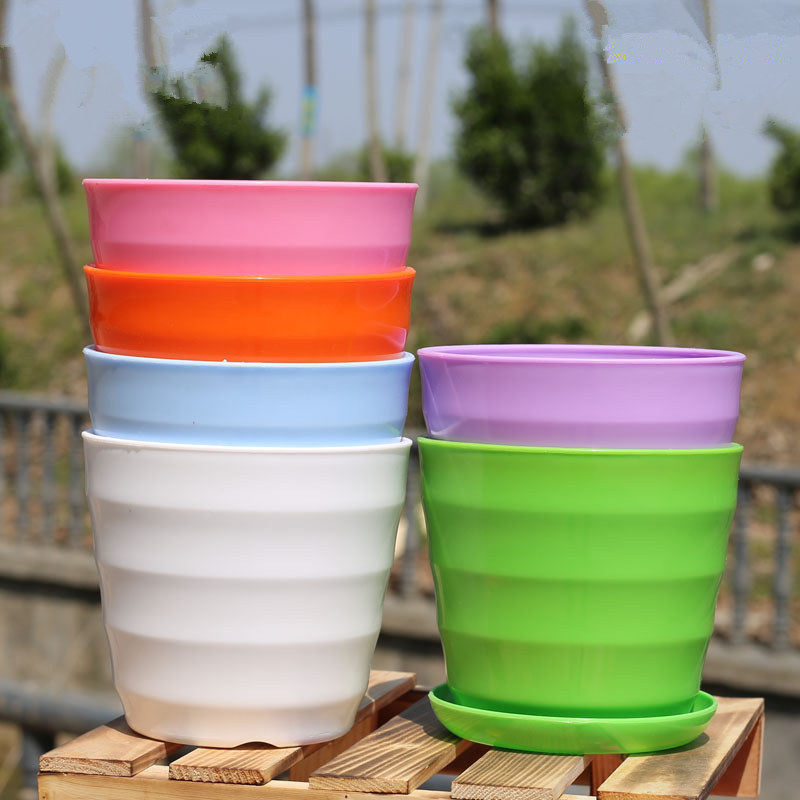 1 PC XS-XL Imitation Ceramic Plastic Flower Plants Pots Thicken Succulents Nursery Garden Planter Home Office Decorative Crafts
