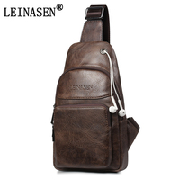 2017 New Fashion PU Leather Crossbody Bags For Men Messenger Chest Bag Pack Casual Bag Waterproof