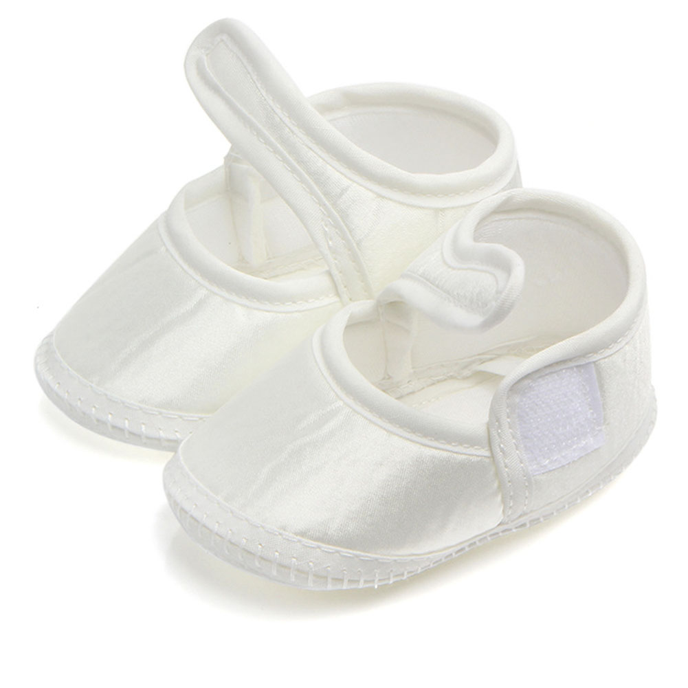 Newborn Infants Footwear Crib Shoes Pure Color Wash Moccasins Shoes Soft Bottom Cotton Princess Shoes One Size First Walker