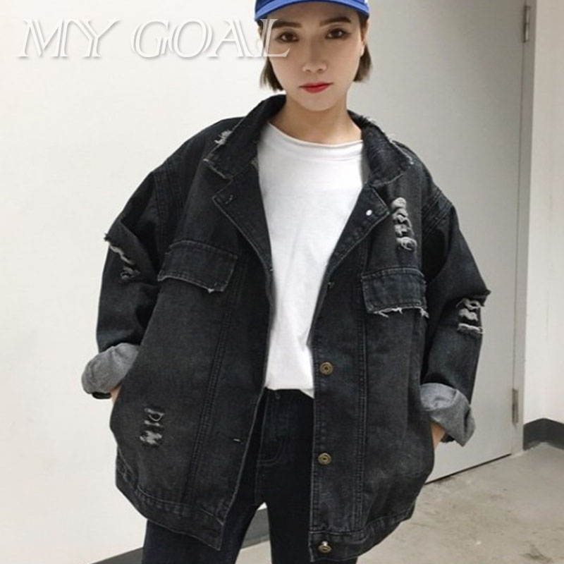 Jeans Jackets Women Coat Spring Autumn Long Sleeve Black Single Breasted Fashion Causal Denim Jacket for Women Basic Coats New