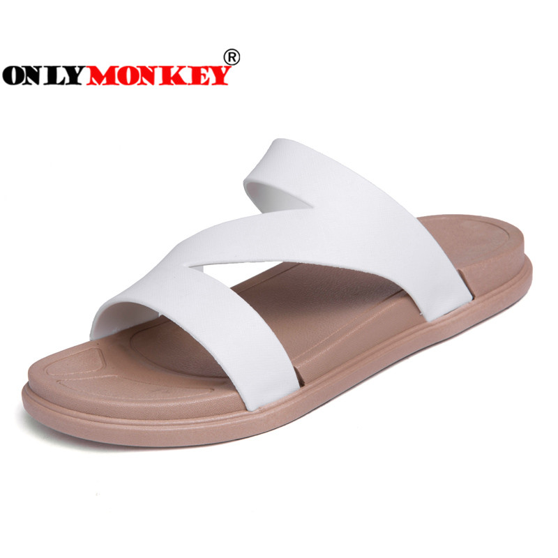 ONLYMONKEY 2018 Summer Cool Women Slippers Slip on Breathable Flat - Zapatos de mujer