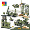 WOMA Military Educational Building Blocks Toys For Children Gifts Army Cars Planes Helicopter Weapon Compatible With