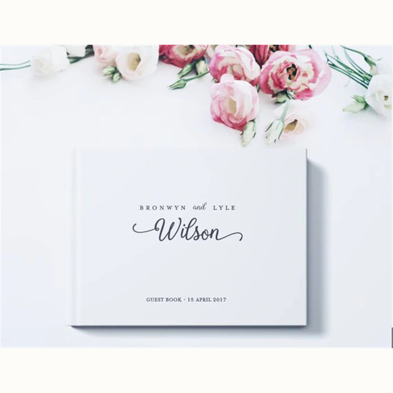 White Theme Wedding Decoration Personalized Guest Book Alternatives Guest Sign Album Custom Guest Book for Engagement Party