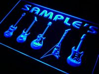 Qp Tm Name Personalized Custom Guitar Hero Weapon Band Music Room Bar Neon Sign