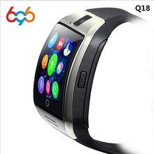 Дешевые 696 Смарт часы Q18 тактовую синхронизацию уведомлений Поддержка sim-карты sd bluetooth Подключение телефона Android SmartWatch Спорт Шагомер