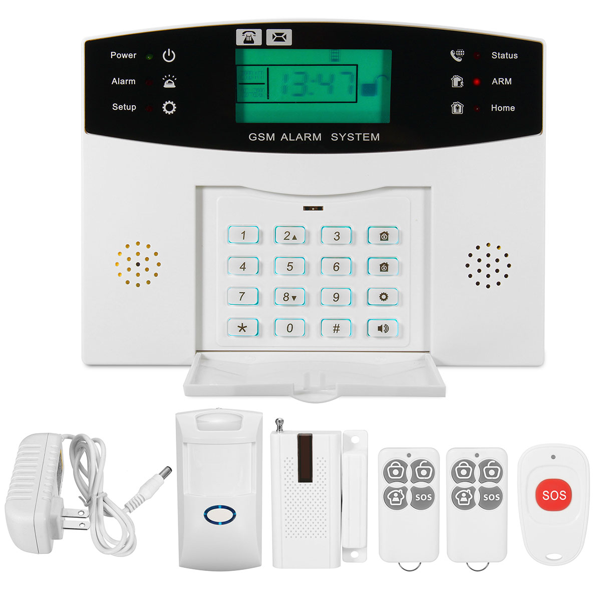 NEW LCD Security Wireless GSM Autodial Home House Burglar Intruder Fire Alarm System For Home Security new safurance wireless lcd gsm sms autodial alarm security home house burglar intruder system home safety alarm mainframe kits