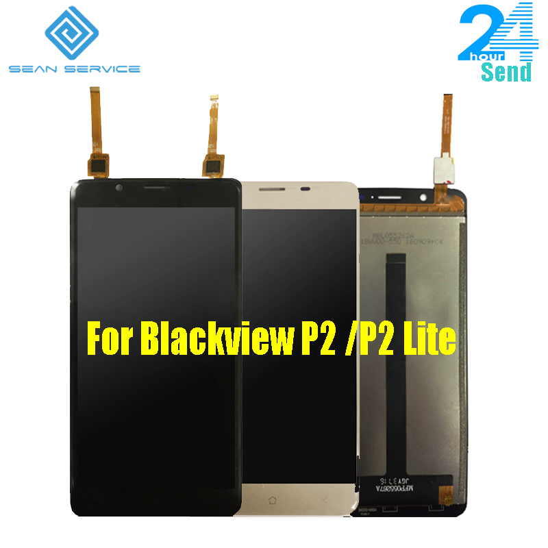 5.5 Pour Origine Blackview P2/P2 Lite LCD Affichage Écran + Tactile En Verre Digitizer Assemblée Remplacement 1920X1080 p Livraison gratuite