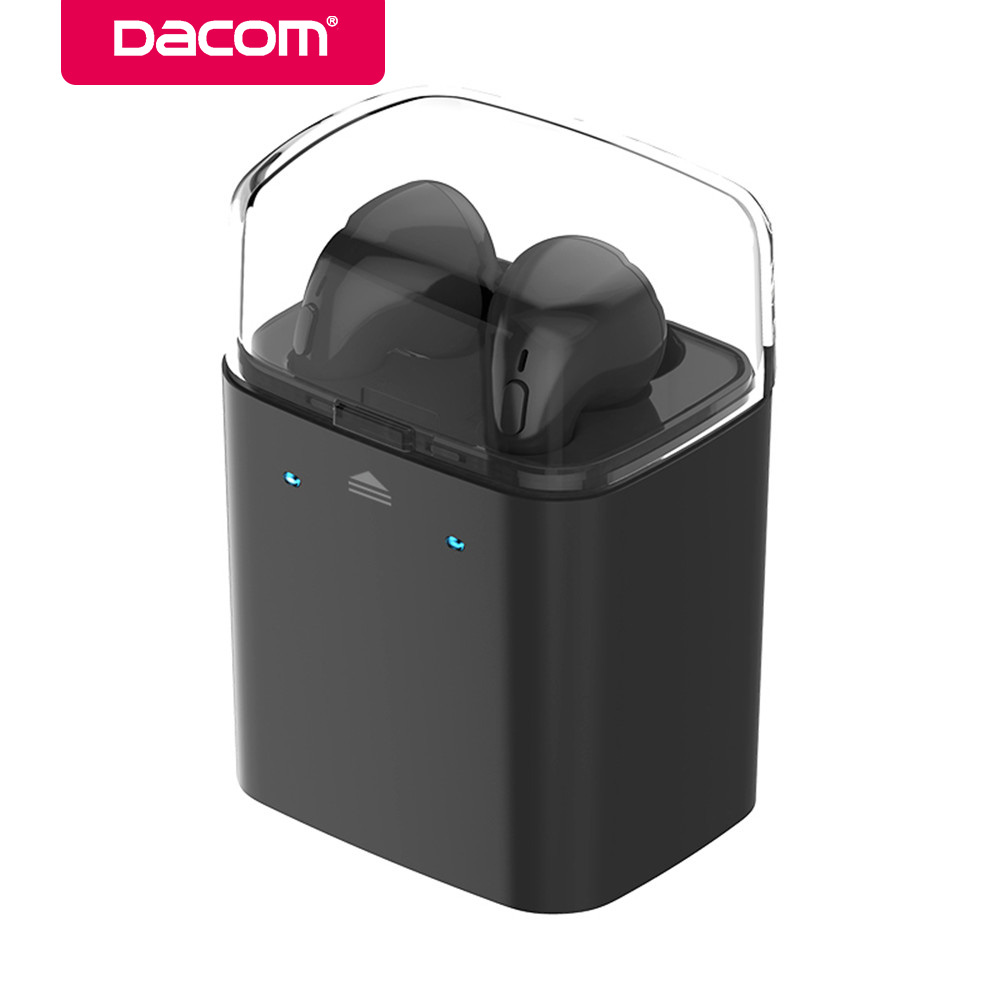 DACOM GF7 TWS Bluetooth Earphone Business Stereo Earbuds True Wireless Earpiece Headset with Mic for iPhone 6 6S 7 7Plus Samsung dacom bluetooth earphone mini wireless stereo headset tws ture wireless earbuds charging box for iphone xiaomi android phone