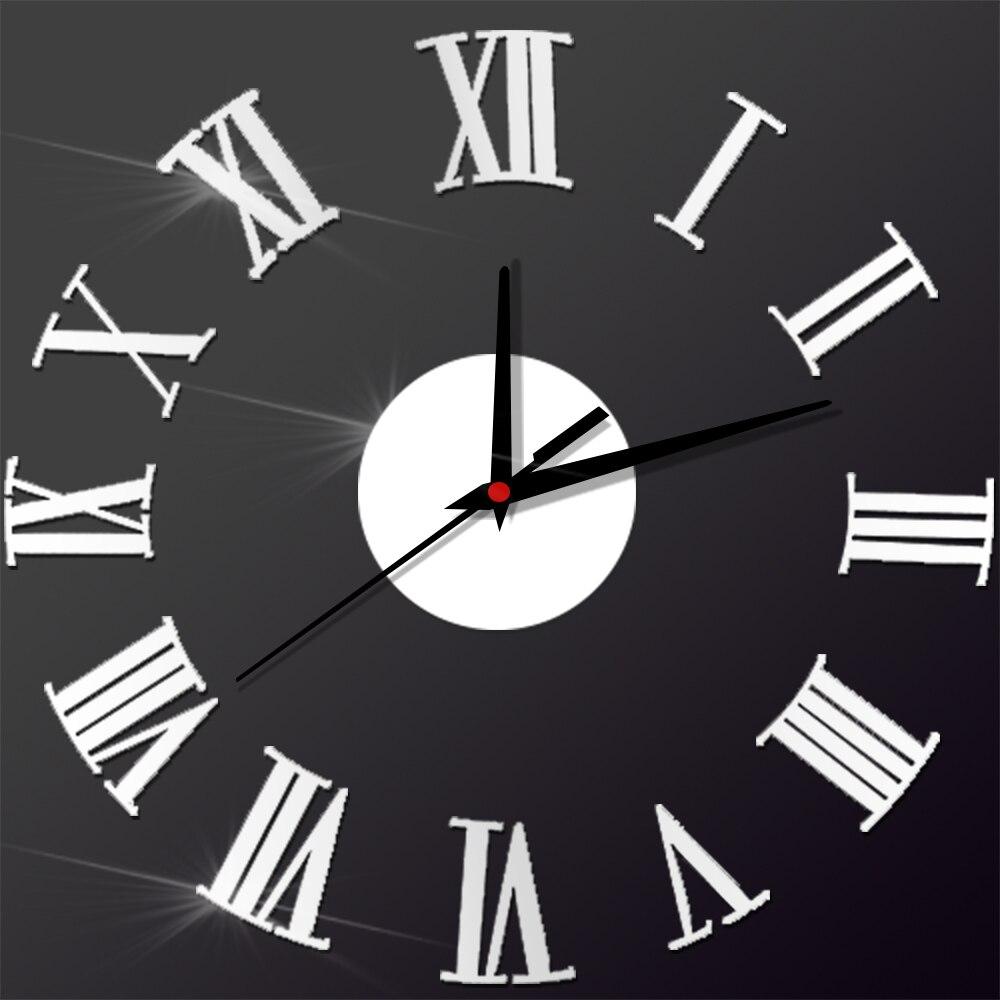 Angka Romawi Jam Dinding Akrilik Kreatif Antik Pasang Sendiri Diri Perekat  Living Room Silent Jam Dinding QUARTZ Digital Dekorasi Rumah di Wall Clocks  dari ... 2c9eda52a4