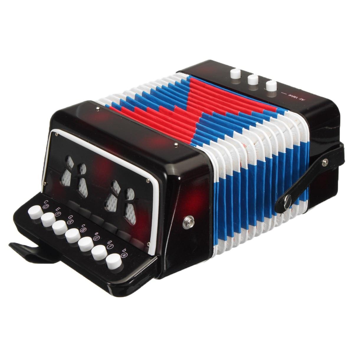 Quality 17 Key 8 Bass Mini Small Children Keyboard Accordion Educational Musical Instrument Rhythm Toy for