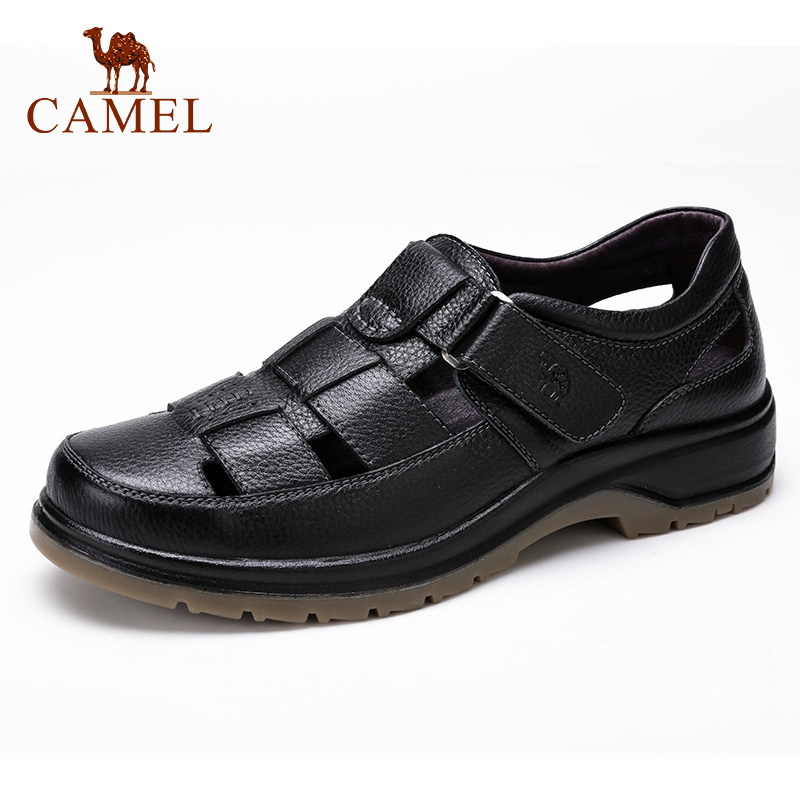 CAMEL High Quality  Men's Sandals Genuine Leather Men Shoes Soft Business Man Sandal Casual Beach Double Use Dad Shoes