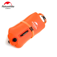 Naturehike 28L Waterproof Dry PVC Bag Inflatable Floating Bag Swim Drift Beach Storage Pouch Camping Travel Double-balloon bag
