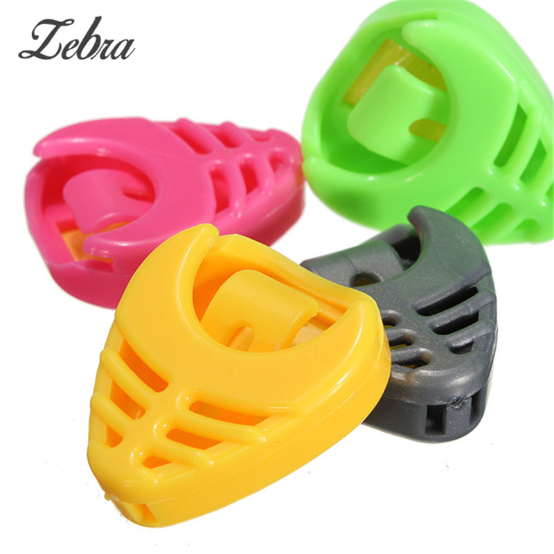 Zebra 1pcs Portable Plastic Colorful Solid Guitar Pick with Plectrum Holder Case Box For All Guitar Parts & Accessories
