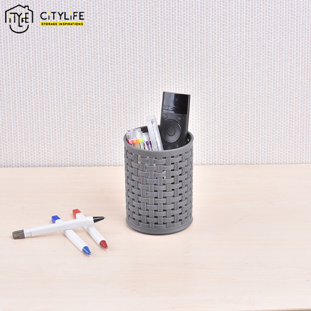 Citylife Plastic Office Supplies Pencil Holder Stationery Container Cosmetic Brush Table Neat L