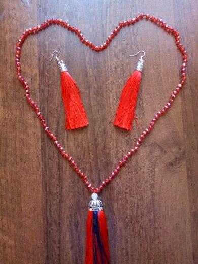 Long Fabric Tassel Drop Earrings photo review