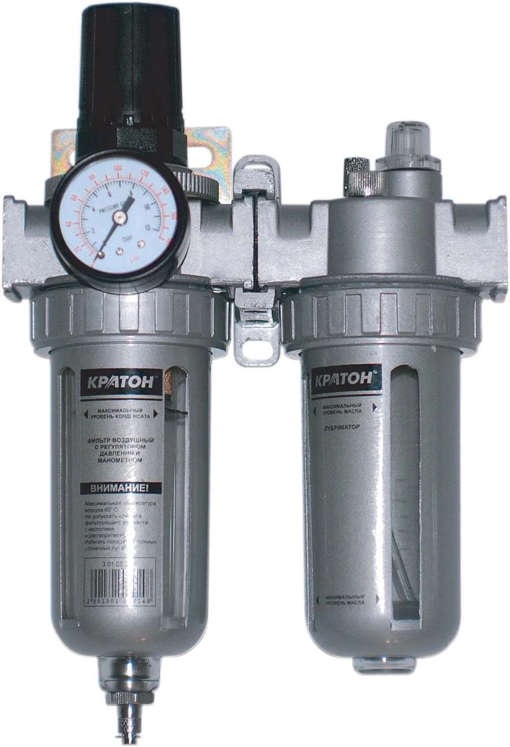 Air filter with pressure regulator manometer and lubricator Kraton стоимость