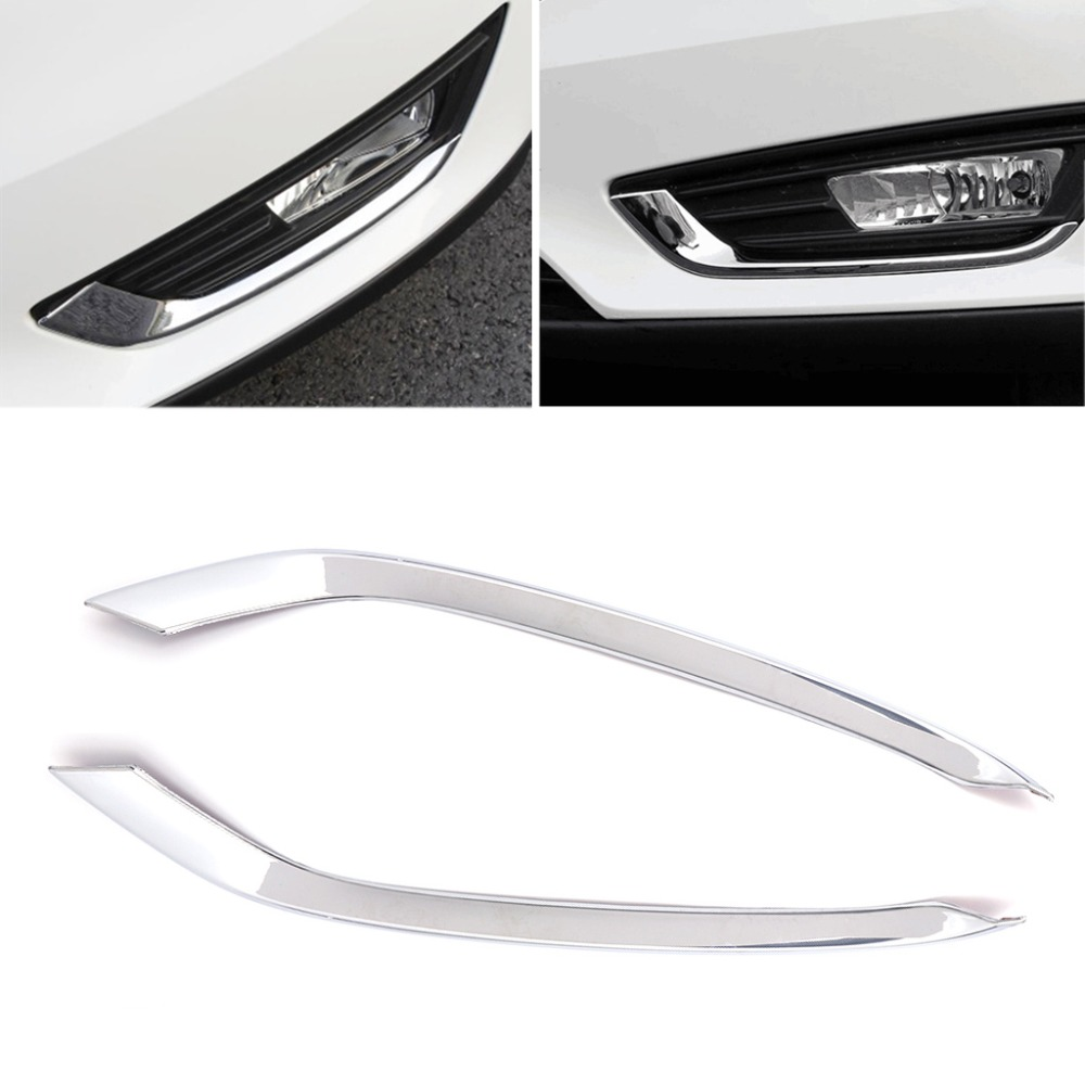 Chrome Car Front Fog Light Lamp Cover Trim For Ford Focus 4 MK4 2015-2017 цены