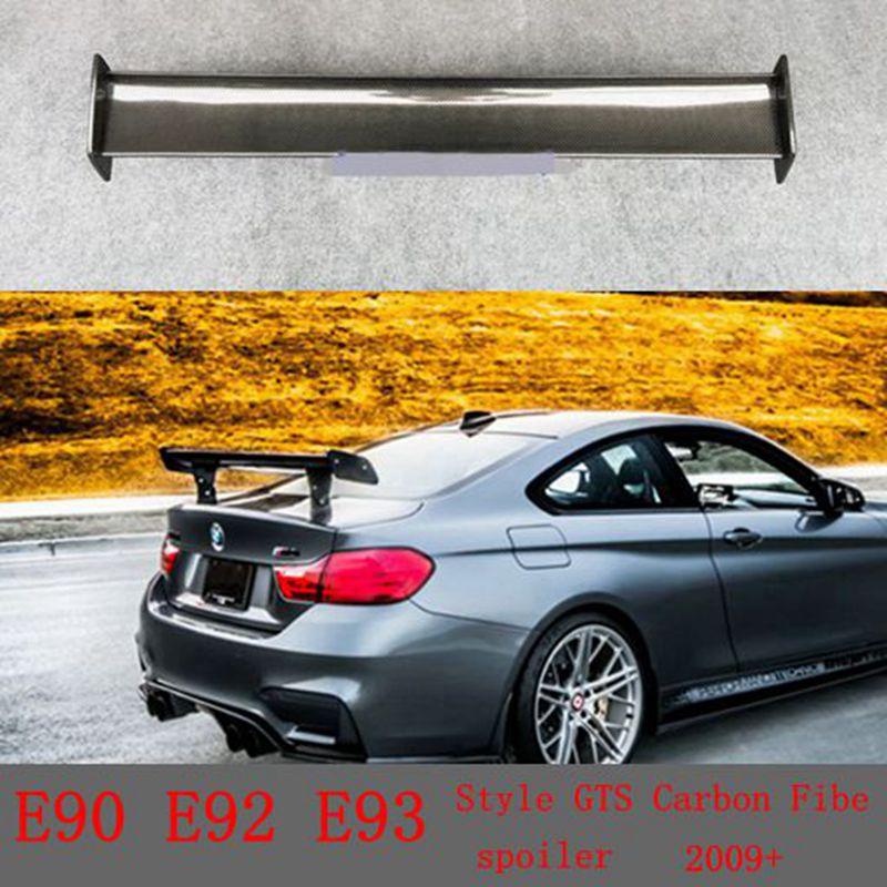 For BMW 1M M3 E82 E87 E90 E92 E93 F30 F10 Revozport Style GTS Carbon Fiber Material Rear Spoiler 2009+ g t style carbon fiber front lip spoiler fit for bmw e90 e92 e93 m3