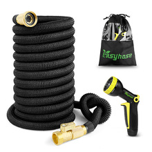 Garden Water Hose 25-100FT Expandable Magic Flexible Garden Hoses For Car Hose Pipe Plastic Hoses To Watering With Spray Gun