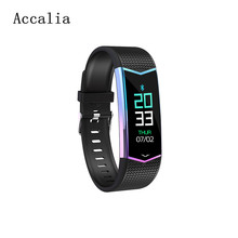 Accalia LV08 smart band heart rate blood pressure monitor tracker fitness colorful bracelet for man&woman