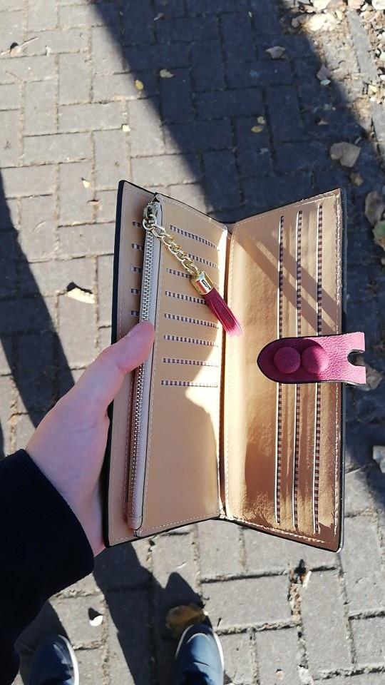 Fashion PU Leather Umbrella Tassel Lady Handbags Hasp Zipper Clutch Coin Purse Cards Holder Wallet #20 photo review