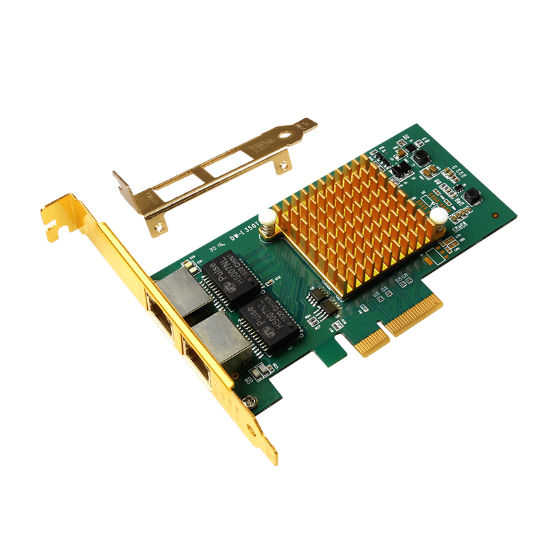 Intel i350t2 I350-T2 Server Desktop Chipset Gigabit PCI-E Network Card 1000Mbps Double RJ45 Port NIC Adapter ROS Convergence цены онлайн