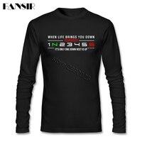 Hommes T-shirt À Manches Longues Col Rond Coton 1N23456 Moto Top Conçu T Chemise Pour Hommes