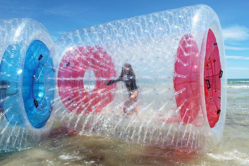 Бесплатная доставка 2,4*2,2 м красочный надувной шар для ходьбы по воде оборудование для игр в воде водяной цилиндр Aqua качения шариковые