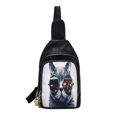 Hot cat printed handbags handbag PU Messenger Bag Messenger bag new ladies шорты accelerate printed hot